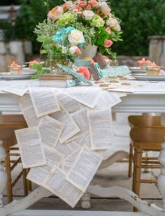 There are so many ways to create simple yet classy literary decorations for your big day! Come see all the ideas! #literature #Weddinginspiration #weddingdecor