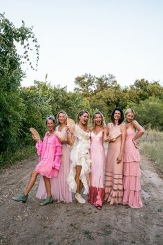 Pink Bridesmaid Dresses, Colored Wedding Dresses, Bridesmaid Bouquet, Wedding Colors, Wedding Styles, Bridesmaids, Erin Wasson, Bridesmaid Inspiration, Wedding Inspiration