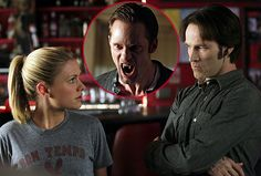 true blood bill compton and Sookie - Yahoo Image Search Results Anna Paquin Stephen Moyer, True Blood Season 4, Alexander Skarsgard True Blood, True Blood Party, Blood Photos, Vampire Shows, True Blood Series, Best Tv Couples, She Movie