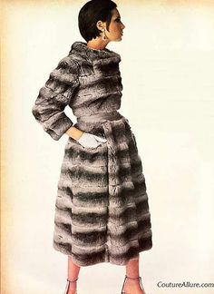 1965 Chinchilla fur coat. One day I'll get my hands on this beauty