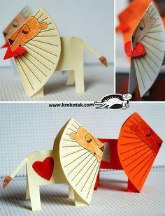 "Paper lion ""I Love You"""