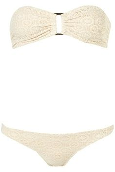 Cream Lace Bandeau Bikini - Hotshop - Designers & Collections - Topshop USA - StyleSays