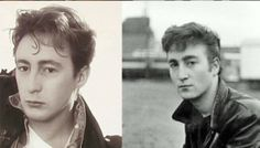 Julian Lennon and John Lennon (around the same age)