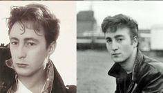 Julian Lennon and John Lennon (around the same age)
