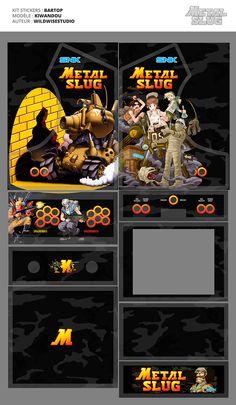 Deco Bartop Metal Slug by wildwisestudio - HFS Play Ninja Turtle Drawing, Mini Arcade Machine, Arcade Bartop, Room Ideias, Diy Arcade Cabinet, Arcade Stick, Retro Arcade Games, Video Game Costumes, Classic Video Games
