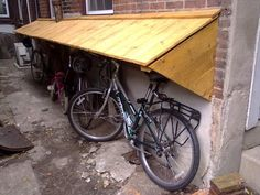 Custom Bike Shelter - completely made from reclaimed wood - 11/2/12