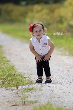 2 year old girl photography. Harley Davidson. SM Photography