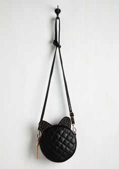 As Ears Go By Bag - Black, Solid, Studs, Casual, Cocktail, Girls Night Out, Cats, Good, Halloween