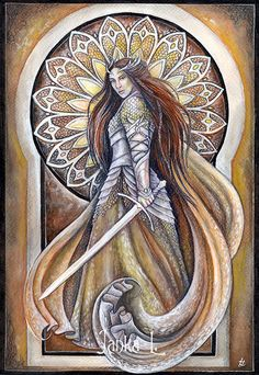 Buy Original painting - The warrior queen by jankalart. Explore more products on http://jankalart.etsy.com