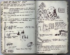 journal travel camping outdoors nature