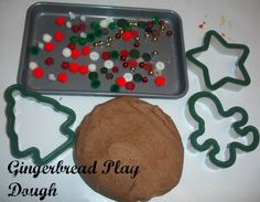Gingerbread Play Dough for The Sweet Smell of Christmas story/speech-language activity
