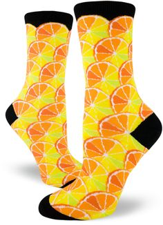 1c109fae5ba Look fresh for spring and summer with our new Women s Citrus Crew Socks!  Silly Socks