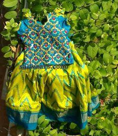 Blue Pochampally Print Lehenga - Indian Dresses