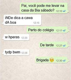 Até um alien conseguiria conversar com essa filha em português