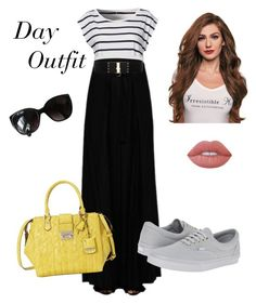 """Day"" by keila-87 on Polyvore featuring moda, Denim & Supply by Ralph Lauren, Ann Demeulemeester, GUESS, Vans, Betsey Johnson, Lime Crime e Chanel"