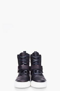 pretty nice 0d6f2 36f02 BALMAIN Black Velcro Basketball Sneakers Calzado Masculino, Zapatillas,  Moda Masculina, Calzas, Zapatos