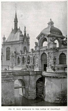 The Main Entrance of the Château de Chantilly
