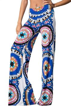 Through the Looking Glass Palazzo Pants - Multi
