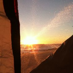 Watching sunset from my tent