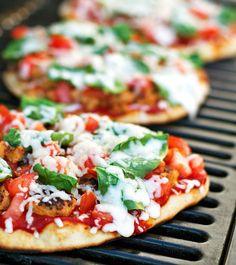 Italian Food ~ #food #Italian #italianfood #ricette #recipes #pizza ~ Grilled Chicken Sausage, Spinach, and Mozzarella Pizza