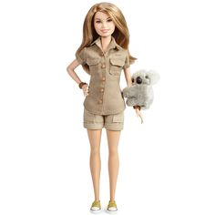 2018 News about the Barbie Dolls! – Barbie Doll, friends and family history and news. From 1959 to the present … Bindi Irwin, New Barbie Dolls, Barbie Family, Rompers, Purple, Celebrities, Coat, How To Wear, Vintage