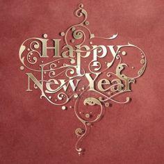 Happy New Year Typography
