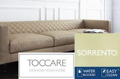 Poťahová látka SORRENTO - TOCCARE Sorrento, Sofa, Couch, Furniture, Home Decor, Homemade Home Decor, Sofas, Home Furnishings, Interior Design