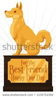 Find Elegant Trophy Golden Dog Greeting Placard stock images in HD and millions of other royalty-free stock photos, illustrations and vectors in the Shutterstock collection. Thousands of new, high-quality pictures added every day. Golden Dog, Happy Dogs, Dog Days, Disney Characters, Fictional Characters, Celebration, Best Friends, Royalty Free Stock Photos, Elegant