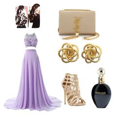 """""""coctel dres"""" by kivericdamira ❤ liked on Polyvore featuring Steve Madden, Yves Saint Laurent and Roberto Cavalli"""