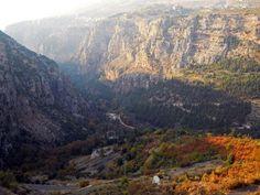 LEBANON, QADISHA VALLEY IN AUTUMN