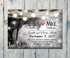 Romantic Night Merriment #Wedding #Invitation #card by WeddingSundaeShop