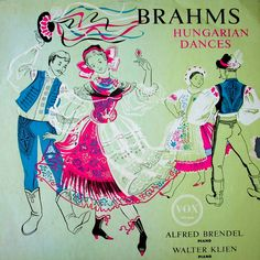 https://flic.kr/p/6hM3ot | 'Brahms Hungarian Dances' - Alfred Brendel and Walter Klien | Vox, date and designer unknown.