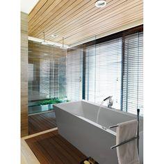 "MTI Kahlo 4 Tub (66"" x 36"" x 22"")   Free Shipping - Modern Bathroom Contemporary Design, Modern Design, Metal Deck, Acrylic Tub, Design Suites, Soaker Tub, Tub Surround, Bathroom Renovations, Bathroom Furniture"