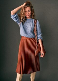 Sézane - Dino Skirt Source by jakisd outfits Mode Outfits, Fall Outfits, Casual Outfits, Fashion Outfits, Fashion 2017, Skirt Fashion, Fashion Ideas, Look Fashion, Winter Fashion
