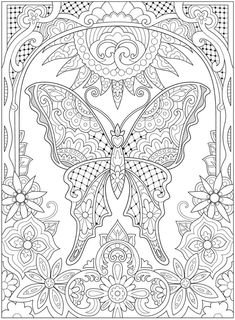 Welcome to Dover Publications Spring Coloring Pages, Bird Coloring Pages, Free Adult Coloring Pages, Free Printable Coloring Pages, Coloring Sheets, Creative Haven Coloring Books, Page Decoration, Coloring Pages Inspirational, Mandala Stencils