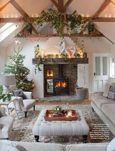 White Washed Living Room