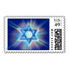 Radiant Star of David Postage and other products.... sweet!