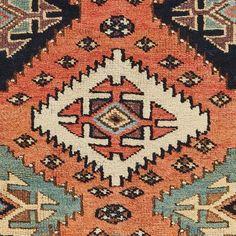 "Antique Wool Rug - 3'7""x9'9"""