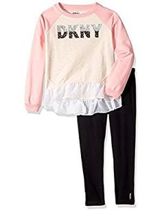 DKNY Little Fashion Legging Available. ** Find out more about the great product at the image link. (This is an affiliate link) Clothing Sets, Girl Clothing, Little Fashion, Girl Fashion, Leggings Fashion, Outfit Sets, Latest Fashion Trends, Image Link, Girl Outfits