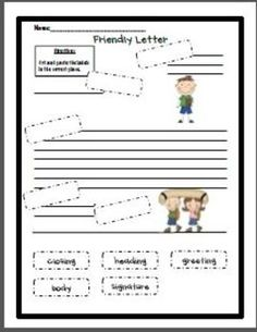 Free Printable - Friendly Letter Cut and Paste