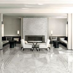 Happy Floors Calacatta Porcelain Collection. Available at WCT Design Flooring.