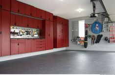 To make your garage storage more organized. You can make stunning storage that you can use to store all goods and also as the cool home decoration. Garage Storage Solutions, Garage Design, Custom Garage Cabinets, Storage Spaces, Garage Decor, Storage Cabinets, Cabinet Plans, Storage, Storage Solutions