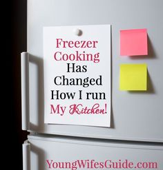 I know this sounds dramatic, but freezer cooking has literally changed my life and how I manage my kitchen. Here's why and how I do freezer cooking: http://youngwifesguide.com/freezer-cooking-it-has-changed-my-life/