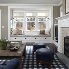 I've always loved a window seat.  Would be really cool in the sitting room off the master bedroom.
