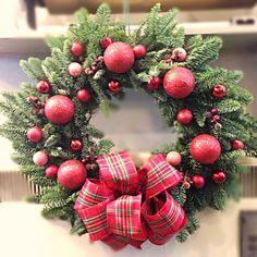 Red Door Wreath