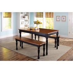 Better Homes and Gardens Autumn Lane Farmhouse Bench Black and
