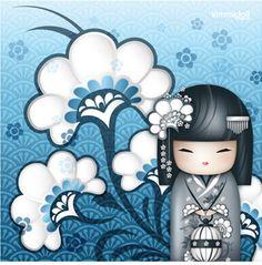 "✿ Kimmidoll Illustration ~ ""Chiaki"" 'Joy' ✿ ""My spirit is fun-loving and…"