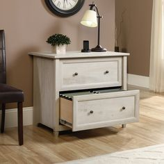 sauder harbor view lateral file cabinet antique white office pinterest living room redo living rooms and spaces
