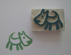 Doggy carved #stamp #rubber #cagnolino