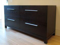 modern dark brown dresser